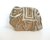 Elephant stamp - Wooden stamp - wood block print - Indian printing block - wooden elephant