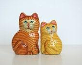 Home Decor - Figurine - Cat, Kitten - Set of 2 - Hand painted