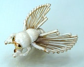 Vintage Monet brooch Bug pin Moth Insect jewelry