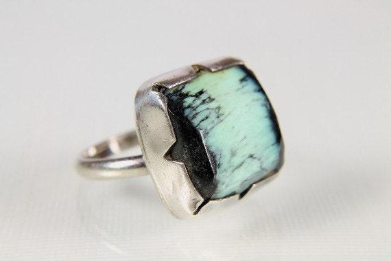 Vintage Apache Variscite Sterling silver Ring