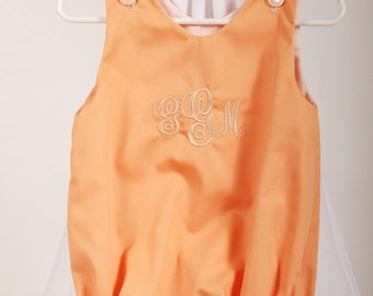 Apricot Baby Bubble with Monogram