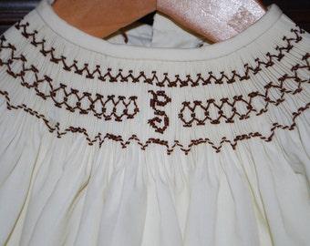 Smocked Monogram Dress