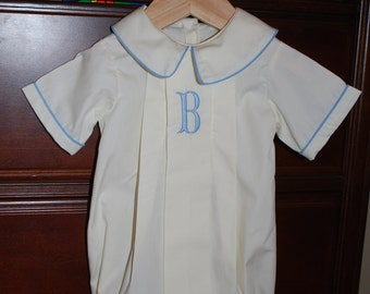 Monogram Bubble for Baby Boy