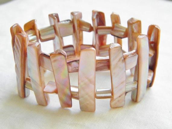Vintage Pink Abalone Expansion Bracelet