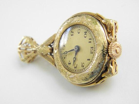 Vintage Victorian Revival Pendant Watch, 40s