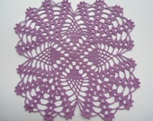Crocheted doily purple / lace doilies / placemat/ table decor