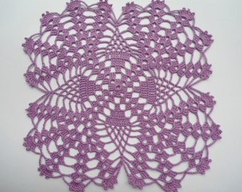 Crocheted doily purple / lace doilies / placemat/ table decor