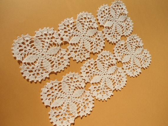 Set of 6 crochet doilies coaster