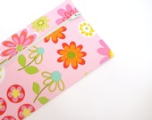 Pencil case pink, pink orange green yellow Gifts for teenage girls, Gifts for young girls, Pencil pouch, Cosmetic bag, Zipper pouch retro