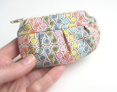 Cute small coin purse, rainbow colorful dots tiny zipper pouch, under 20, Gift ideas Her, Handmade unique gifts for girls, greengrass2