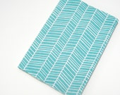 Chevron turquoise white 2013 diary, A5 fabric covered notebook, teacher gift, 2013 day planner