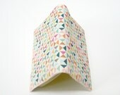 Journal, colorful summer fun geometric triangles, fabric covers for pocket Moleskine planner 2013 or notebook or sketchbook