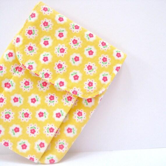 Digital camera case, iPhone 4 case, golden sunshine yellow cases Blackberry Smart phone cases handmade cell phone bag