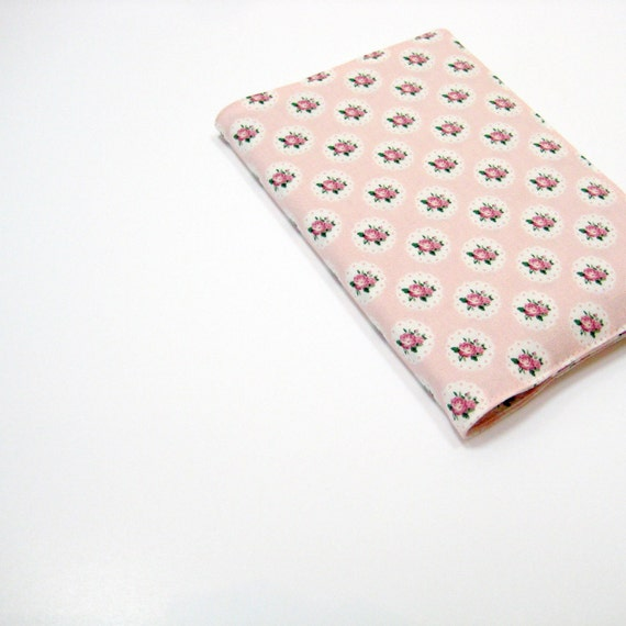 Cute 2014 planner, pretty pink roses lined journal, A6 notebook - small garden wedding guestbook or wedding planner