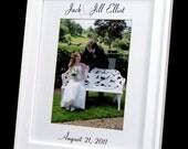 Personalized 8 x 10 Wedding Photo Mat