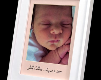 Personalized 5 x 7 Baby Girl Photo Mat