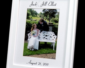 Personalized 8 x 10 Wedding Photo Mat