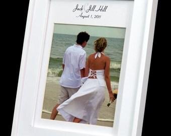 Personalized 5 x 7 Wedding Photo Mat