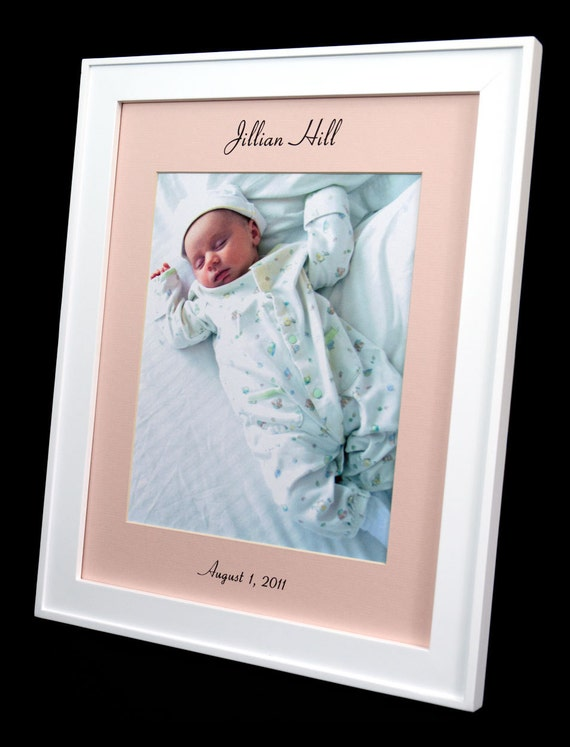 Personalized 11 x 14 Baby Girl Photo Mat