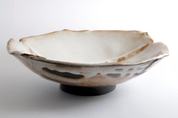 "Rustic White ""Moon"" Bowls (Set of Two)"