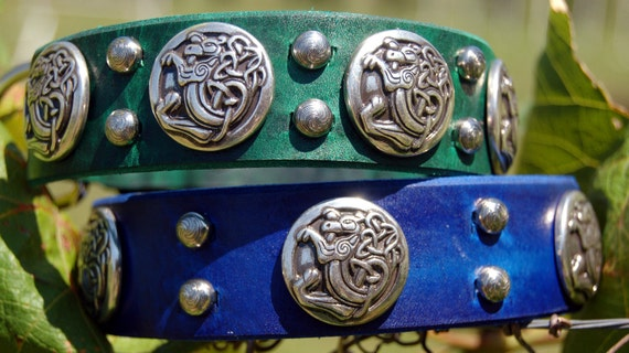 The Fergus Custom Leather Dog Collar by Pleasant Pup Custom Leather Works