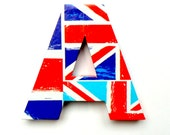 Union Jack Flag Door Sign Mounted Lettering Custom Home Decoration Wall Decal Decor Ornament UK Diamond Jubilee