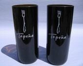 Tapena Recycled Wine Bottle Vase - Set of 2
