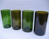 Mid Sized Recycled Wine Bottle Glasses - Set of 4