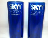 Skyy Recycled Cobalt Bottle Glasses - Set of 2
