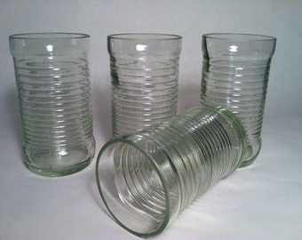 Fanta Soda Recycled Bottle Glasses - Set of 4