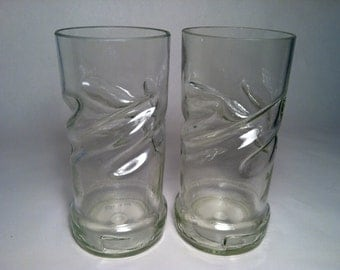 Smirnoff Twisted Recycled Bottle Glasses - Set of 2