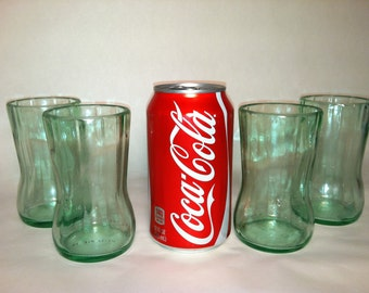 Recycled Coke Bottle Glass - Meduim, Short- Set of 4
