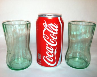 Recycled Coke Bottle Glass - Meduim, Short- Set of 2