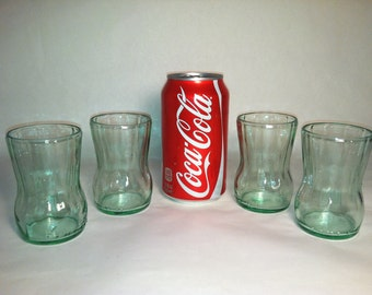 Recycled Coke Bottle Glass - Mini, Short- Set of 4