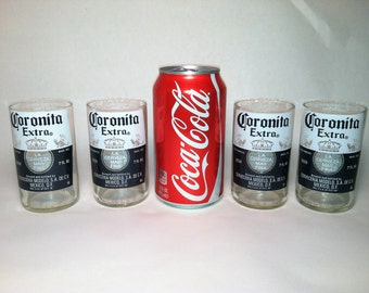 Coronita Extra Recycled Beer Bottle Glasses - Set of 4