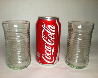 Fanta Soda Recycled Bottle Glasses - Set of 2