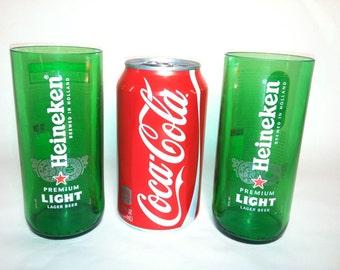 Heineken Light Lager Recycled Glasses - Set of 2