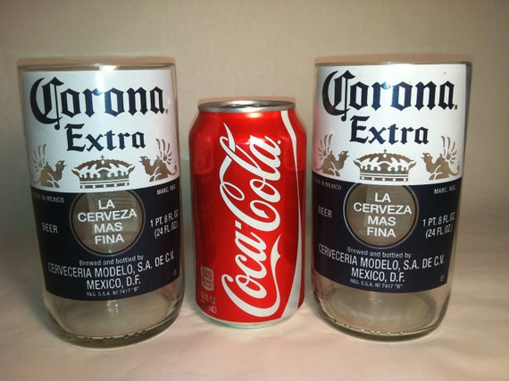 Corona extra large recycled glasses set of by for How to make corona glasses