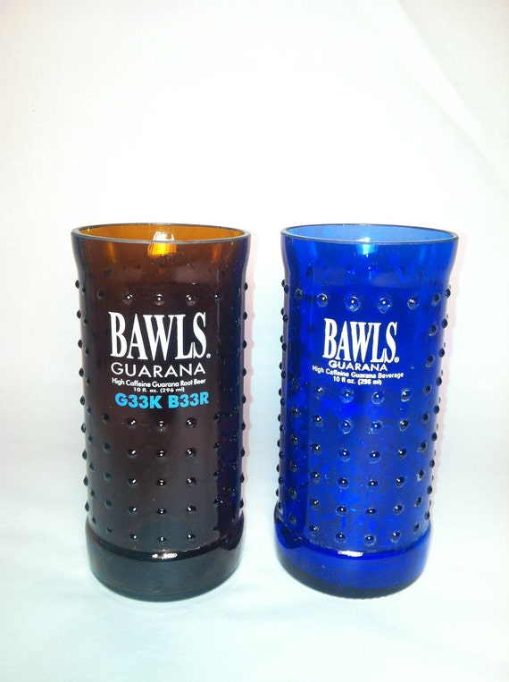 Bawls Mixed Set Recycled Bottle Glass - Set of 2