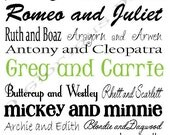 """Last Minute Gift Personalized Couple Word Art """"Good Company-Classic"""" Wedding Gift Anniversary Valentine Sweetheart"""