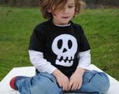 Hand sewn skull pirate t shirt