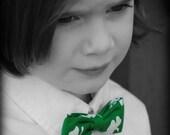 St. Patrick's Day shamrock clip on bow tie
