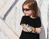 Tattoo sleeves kids black t-shirt, pirate theme