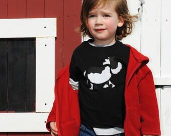 Cow kids t-shirt, down on the farm
