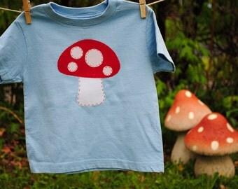 Mushroom toadstool kids t-shirt