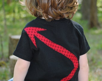 Devil or dragon tail infant or toddler t shirt