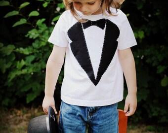 Little man tux kids t-shirt