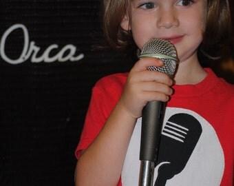 Little rock star microphone kids t shirt