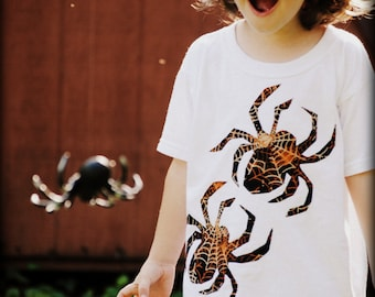 Spider web print Spiders kids t shirt