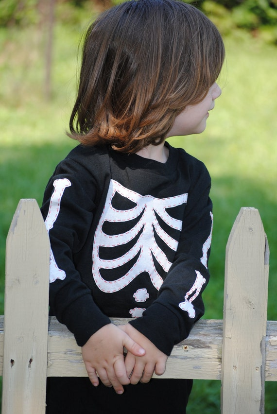 Dem Bones toddler long sleeved t shirt